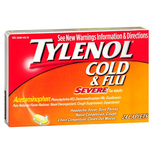 TYLENOL COLD AND FLU SEVERE DAY & NIGHT 24caplets