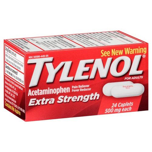 TYLENOL EXTRA STRENGTH 500mg 24caplets