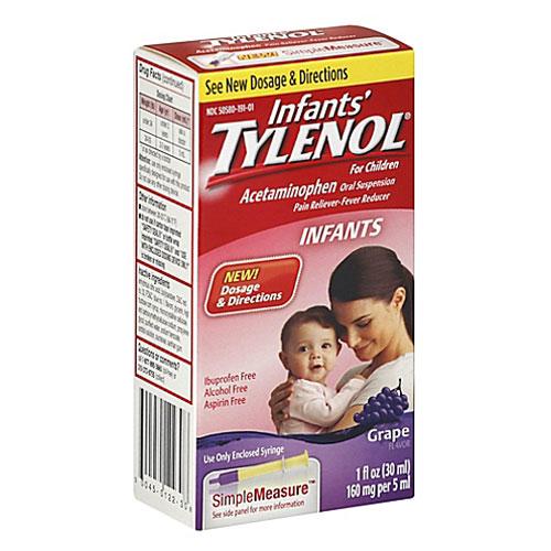 TYLENOL INFANTS PAIN + FEVER GRAPE FLAVOR 1oz