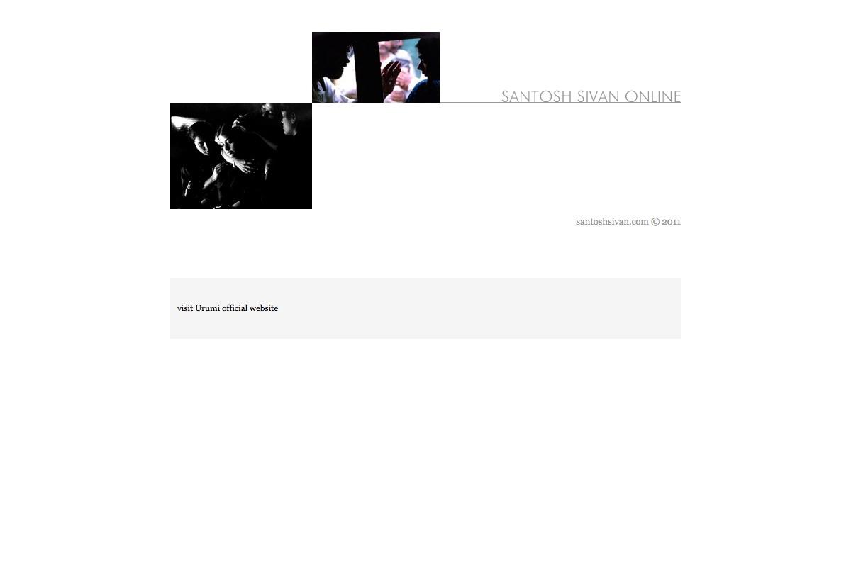 Santosh Sivan's Website