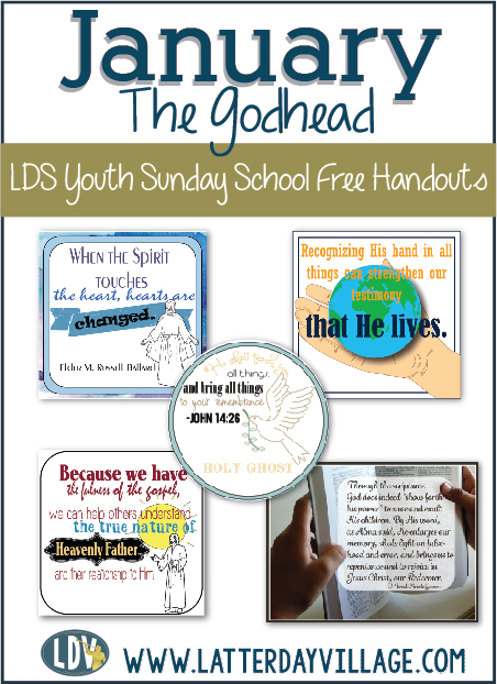 Free LDS Youth Sunday School handouts for January!