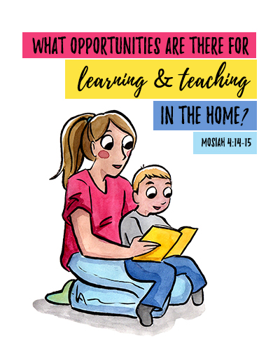 August Sunday School Lesson Poster