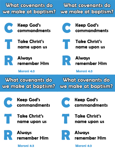July Sunday School Covenants Lesson - Handout