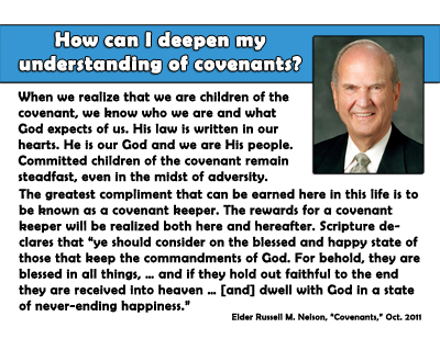 July Sunday School Covenants Lesson - Quote
