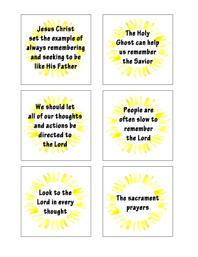 Sunday School Lesson July - Savior scripture cards 2