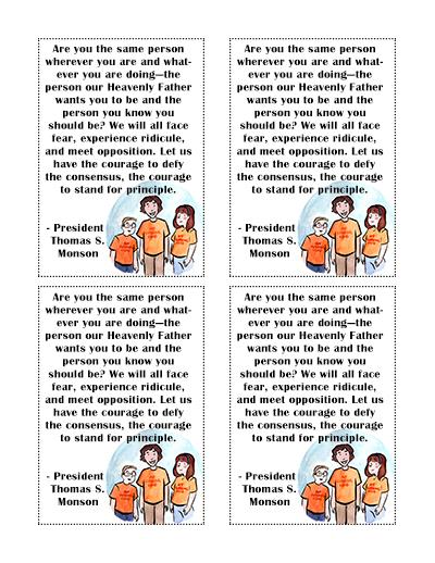 Sunday School handout