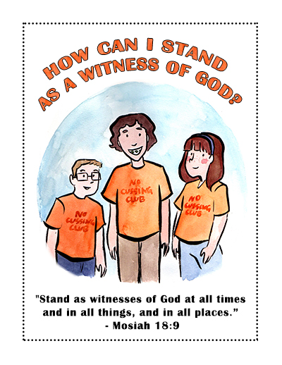 Sunday School lesson poster