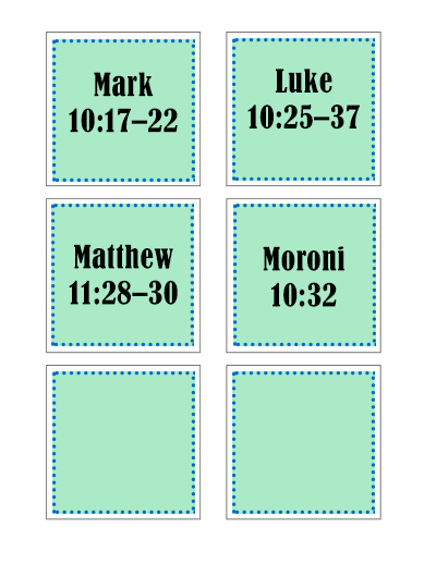 Sunday School Lesson Scripture Cards October