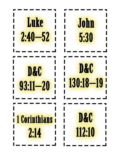 Sunday School Lesson Scriptures