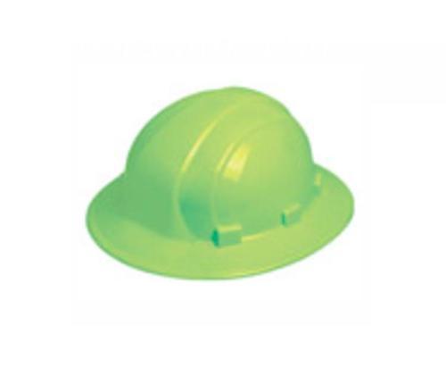 ERB Omega II Full Brim Safety Hard Hat w/ Slide-Lock - Hi-Vis Lime