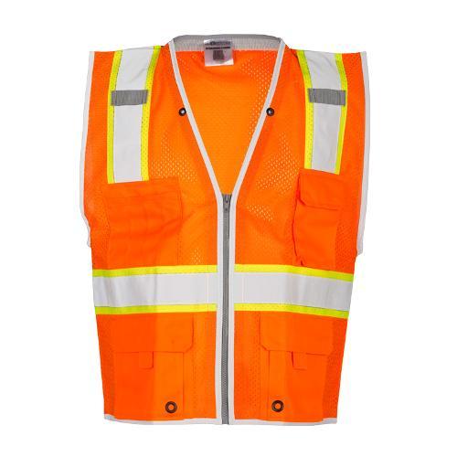ML Kishigo Premium Brilliant Series Heavy Duty Orange Vest - Medium