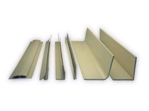 1 1/2 in x 1 1/2 in x 10 ft FRP Outside Corner Angle - Pearl Gray