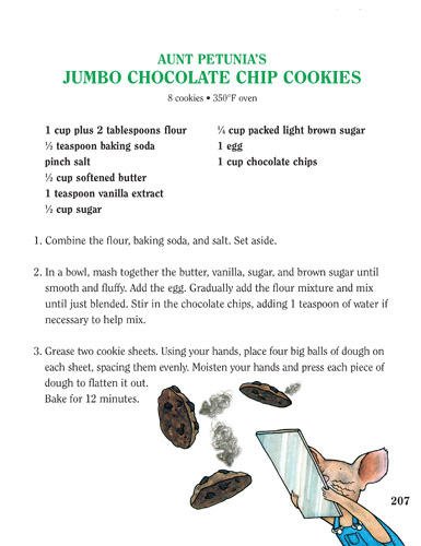 Aunt Petunia's Jumbo Chocolate Chip Cookies