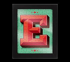 Alphabet Jigsaw E