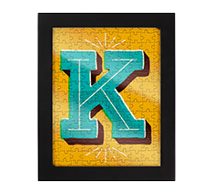 Alphabet Jigsaw K