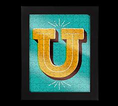 Alphabet Jigsaw U