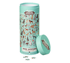 Ridley's Jigsaw Puzzles Dog Lovers 1000 piece puzzle in a tube