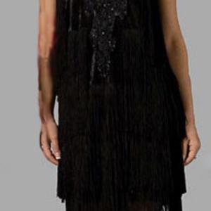 Tabi flapper dress black