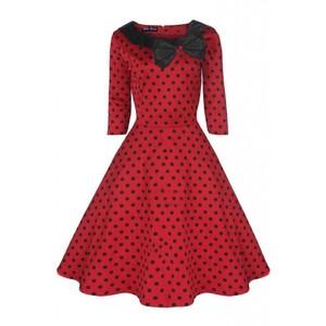 Milky moon red black polka 1