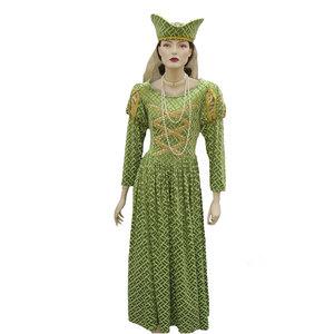 Lime gold tudor queen