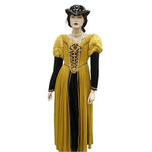 Gold medieval costume