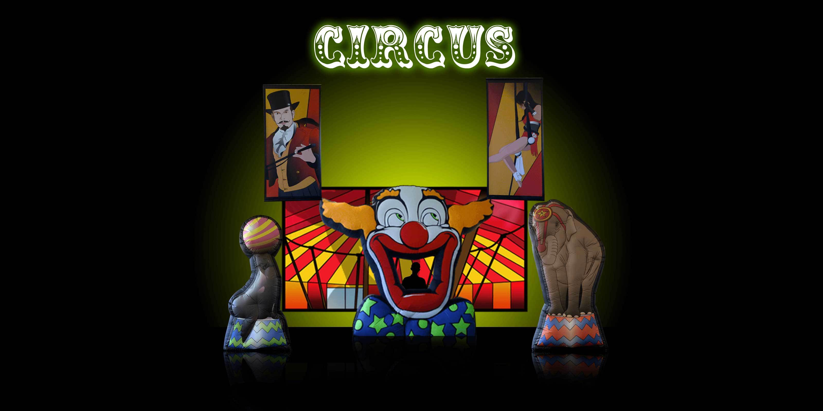Exhibition Booth Rental Uk : Circus theme inflatable scenery hire supazaar