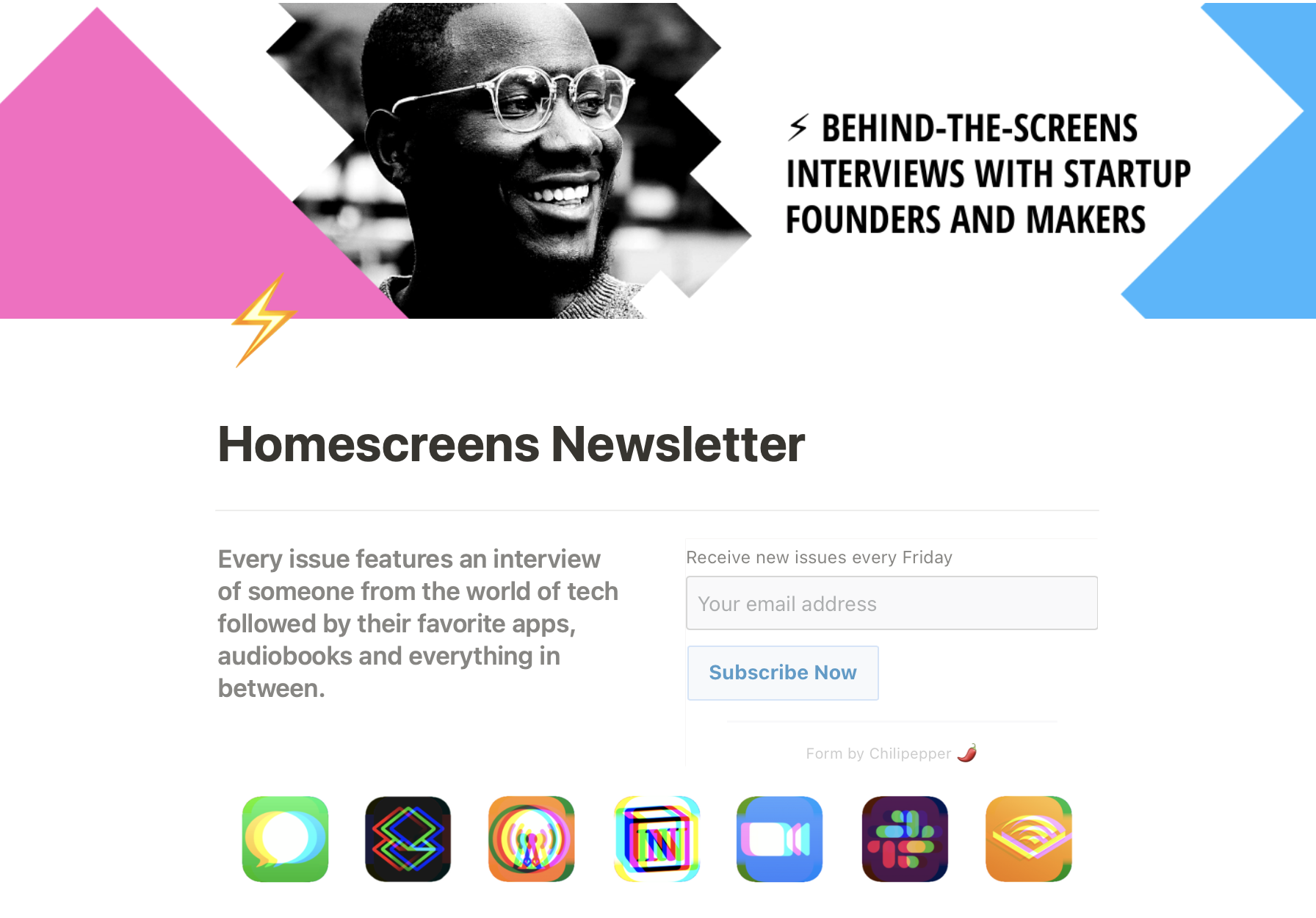 Homescreens Newsletter