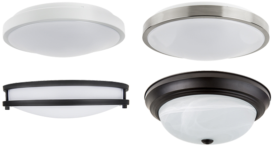 ... Flush Mount Ceiling Light Fixtures Featuring High Lumen Output, Low  Energy Consumption, And A Maintenance Free, Long Life. Simply Install Just  Like Any ...