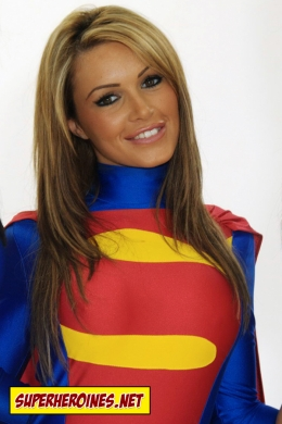 Gorgeous Gemma Massey as Supergirl