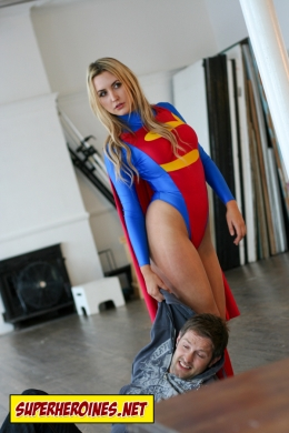 Supergirl drags a man with her bare hands