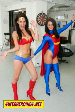 College girls transform to Wonder Babe and Sonic Girl