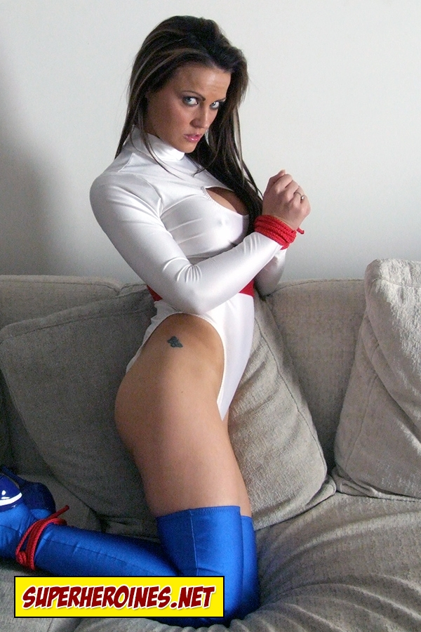 Jasmine Sinclair as a superheroine