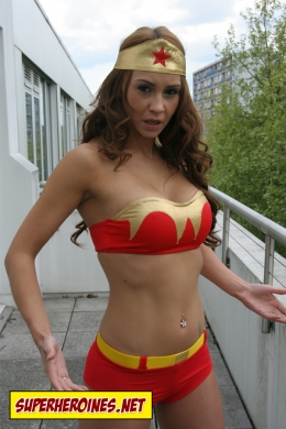 Nicole as the amazing Wonder Woman