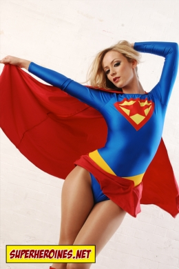 Model Alana as Supergirl