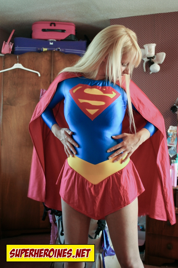 Sammy Braddy UK glamour model as Supergirl