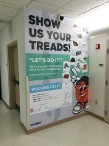 Show Us Your Treads Wall Mural | Verizon Syracuse