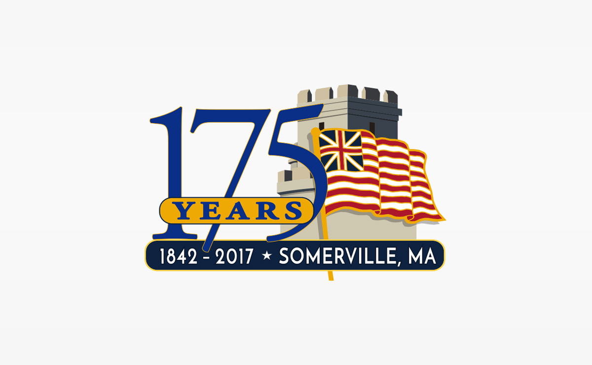 City of Somerville 175th Anniversary Logo