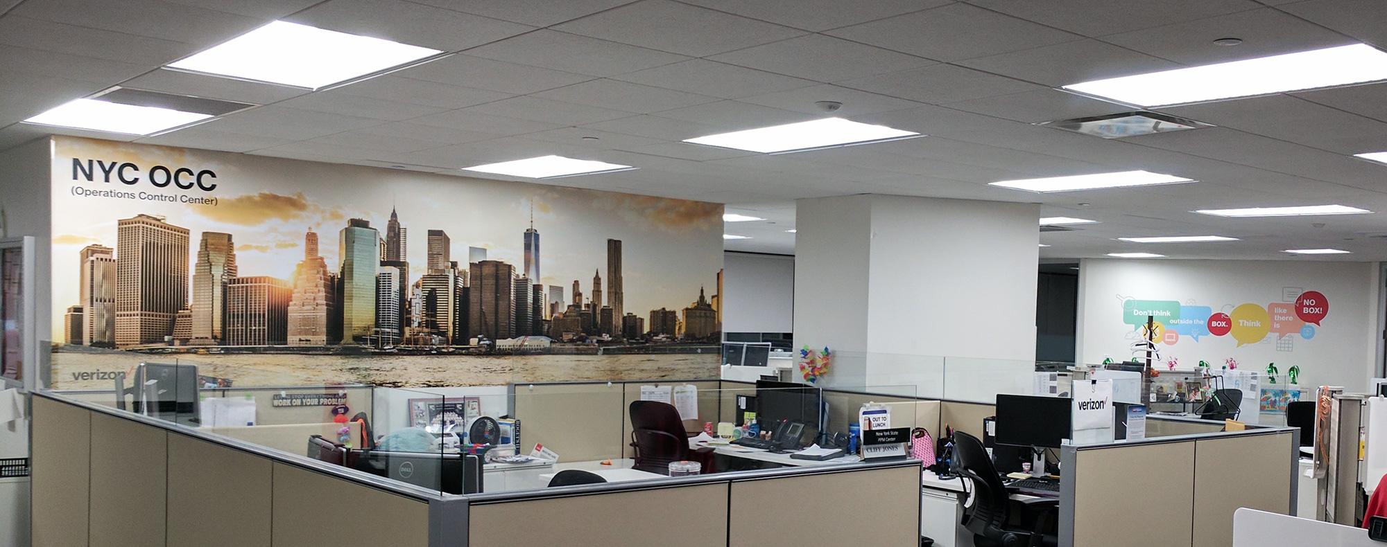 New Your City Mural | Verizon | Digital Printing | Boston, Medford