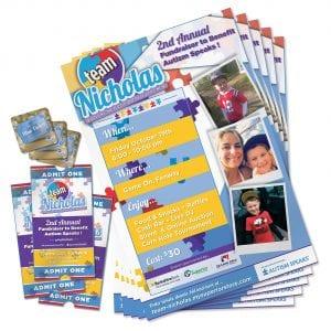 Team Nicholas Print Design   Tickets, Brochures, Cards