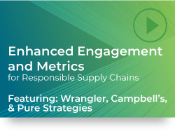 Enhanced Engagement and Metrics for Responsible Supply Chains