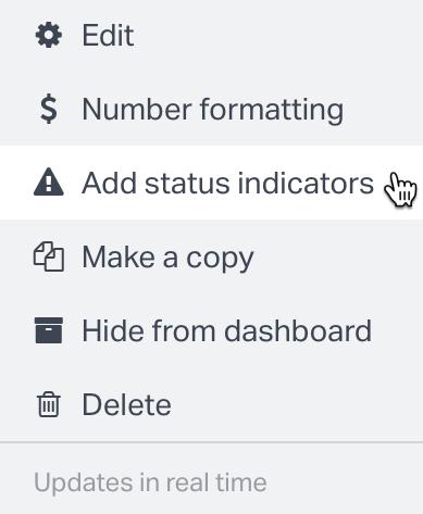Number Widget Options