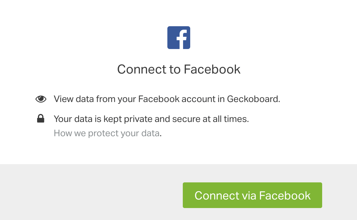 Connect Geckoboard with Facebook
