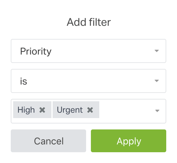 apply a group filter