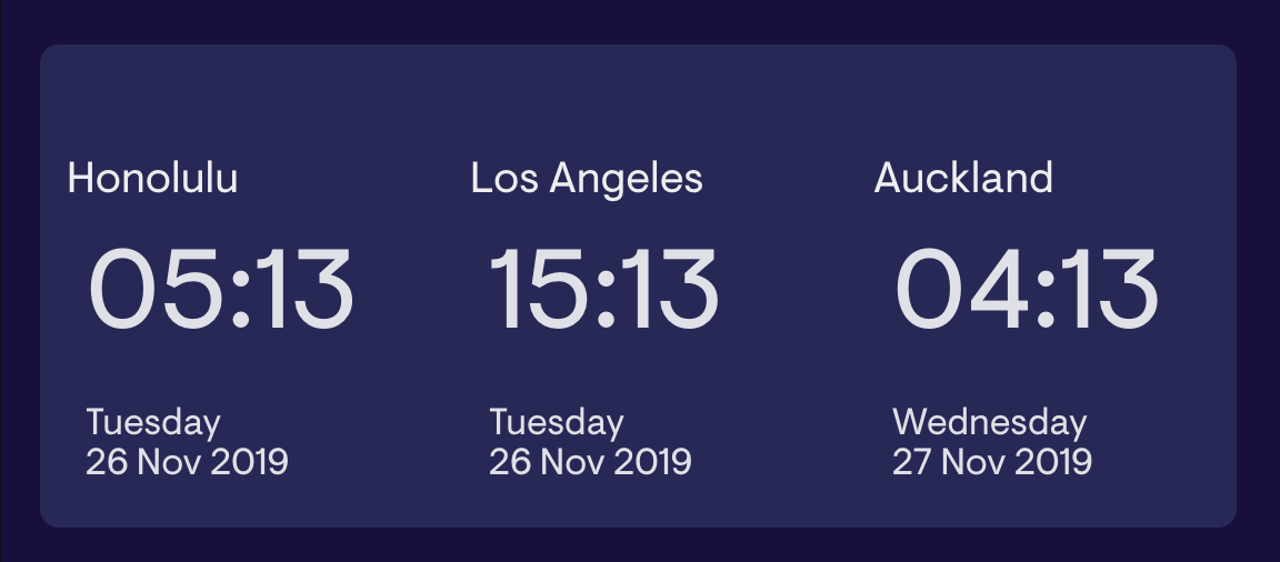 Clock_timezone