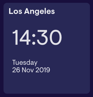 Use the clock widget to display the time and date on your
