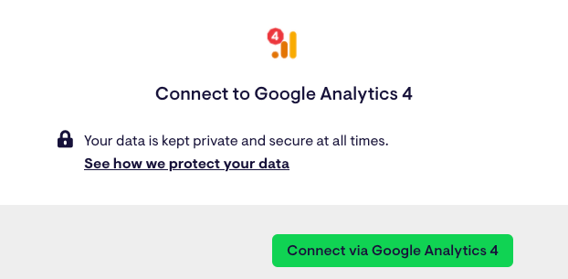 Google Analytics authentication box