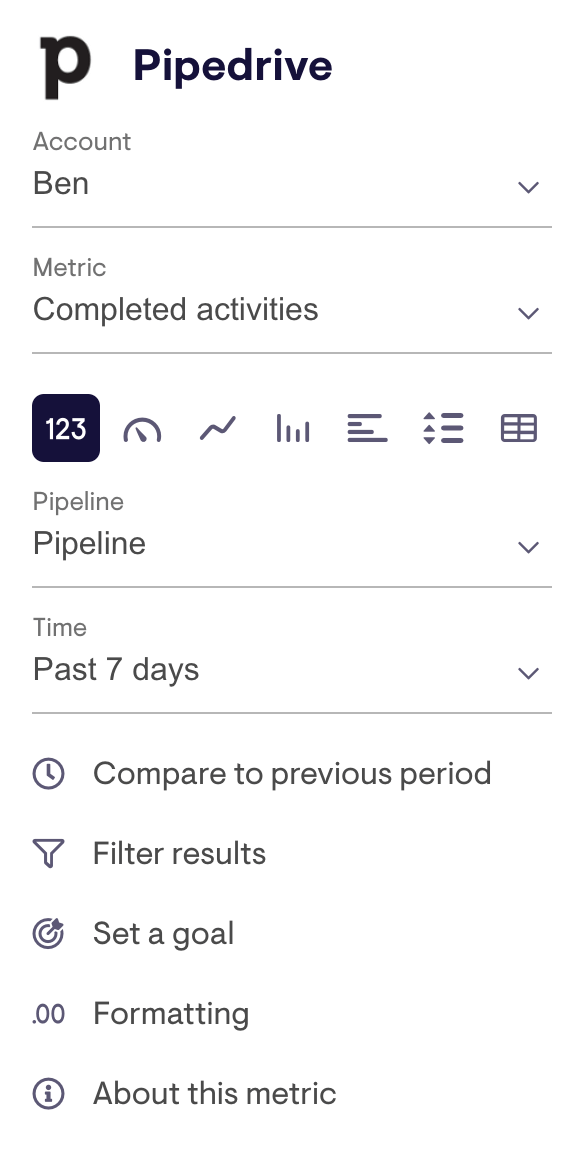 Widget config for Pipedrive
