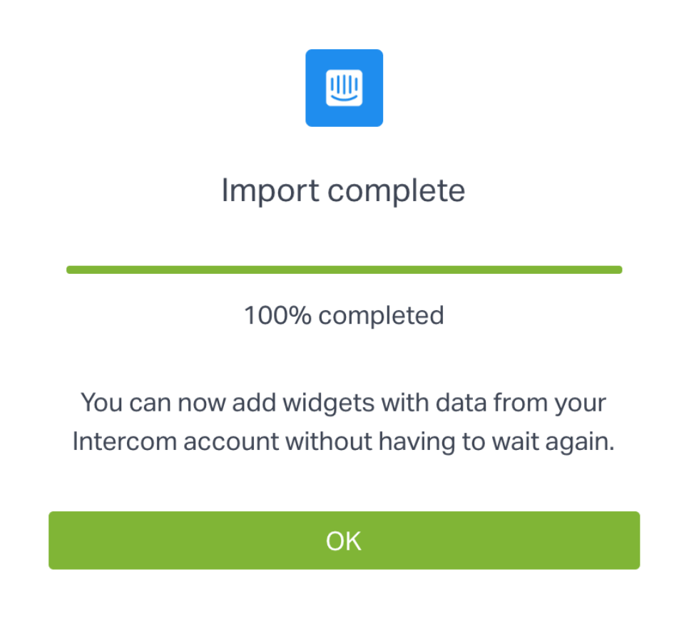 Importing your data from Intercom