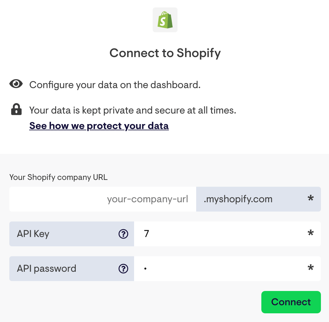 Connect Geckoboard with Shopify