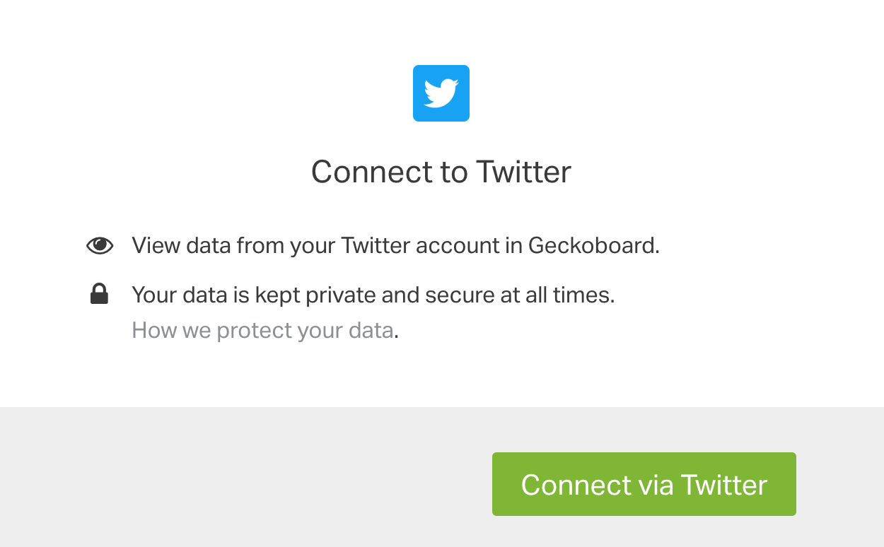 Connect Geckoboard with Twitter